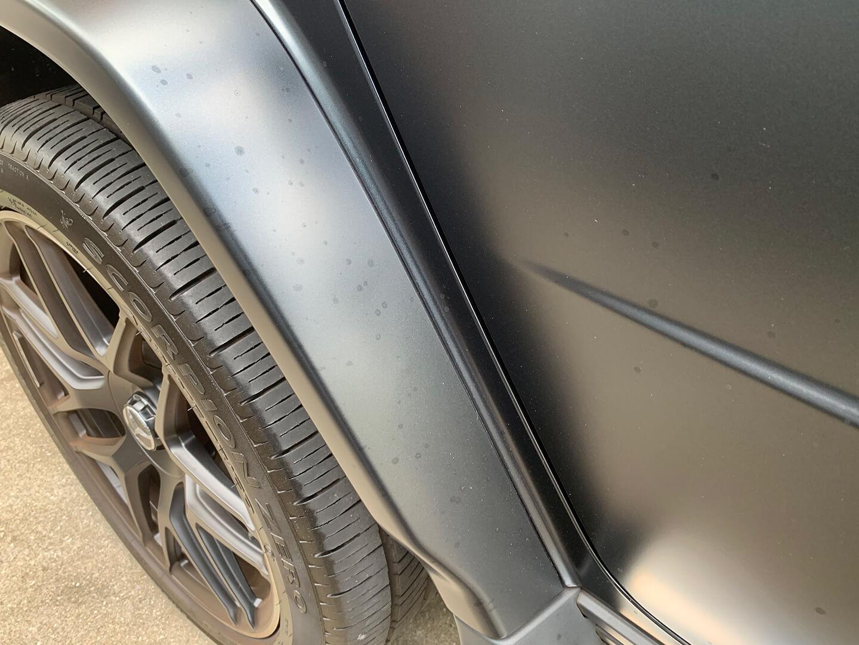 コーティング施工前のメルセデス AMG G63 マットブラック