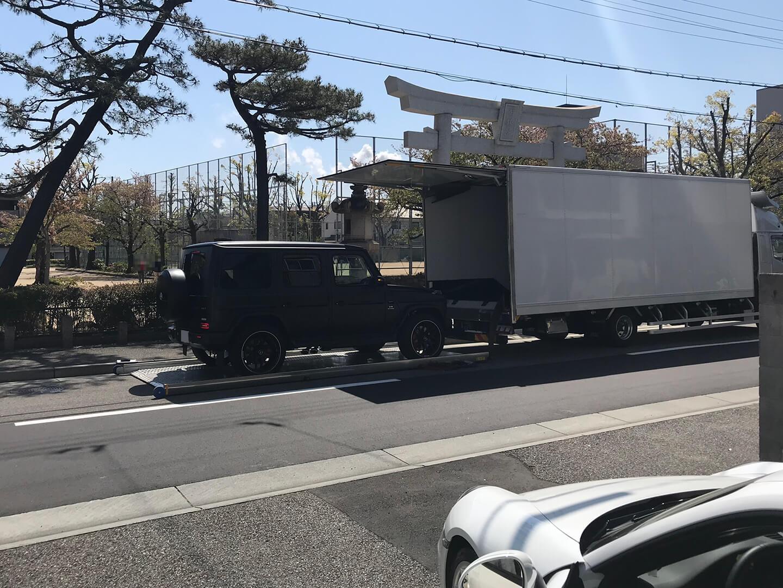 陸送される メルセデスAMG G63 エディション マットブラック