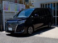 コーティングを施工したトヨタ エスクアイア スパークリングブラックパールクリスタルシャイン