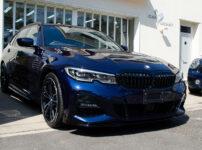 コーティングを施工した BMW 320d ツーリング (G21) タンザナイトブルー